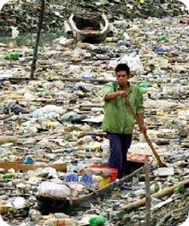 Poluição de rios